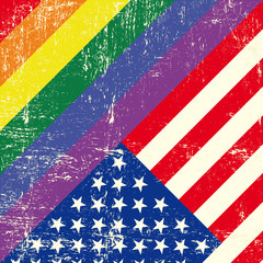 USA and gay grunge Flag