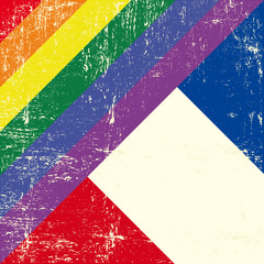 French and gay grunge Flag