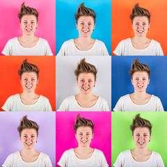 Young Woman Portrait, Multiple Image