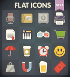 Universal Flat Icons for Web and Mobile Applications Set 6