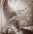 Lace underwear background - vintage style