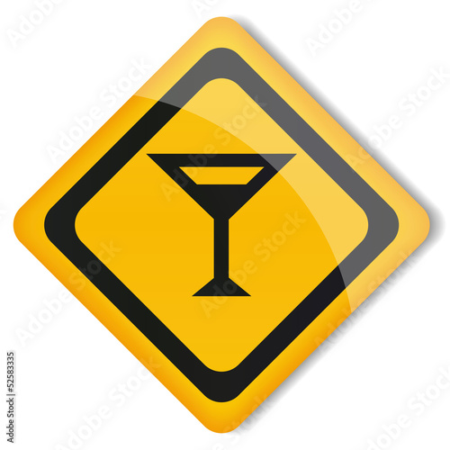 Vector illustration sign glass with drink