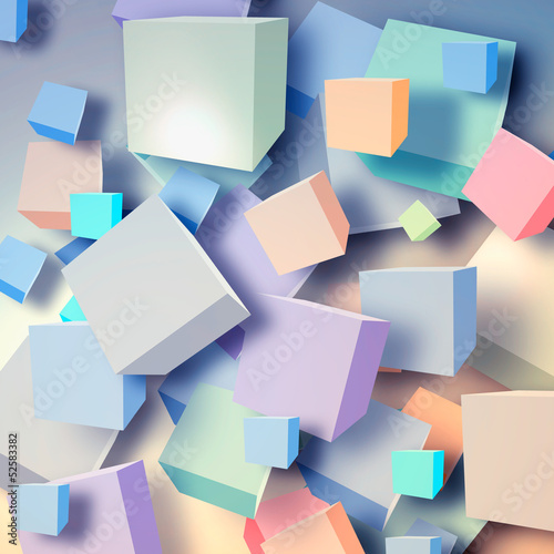 Abstract background with cubes - 52583382