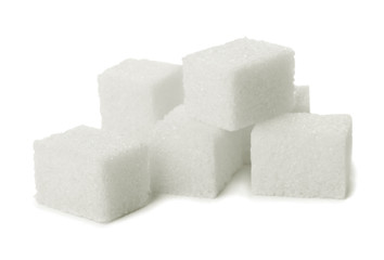 Pile of sugar lumps