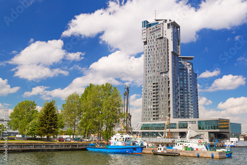 Sea towers building in Gdynia at Baltic Sea, Poland