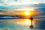 Fototapety Surfing on Bali