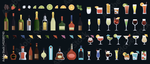alcohol glass set