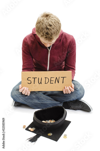 Begging Student - Education Funding Costs