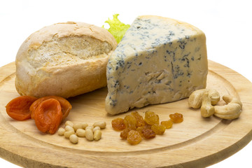 Slice of blue cheese