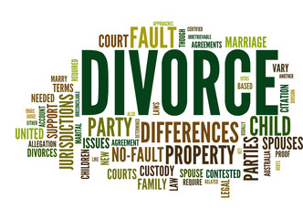Divorce (marriage, couple, child, divorced; tag cloud)