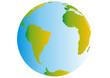 Planet Erde - Südamerika mit Afrika