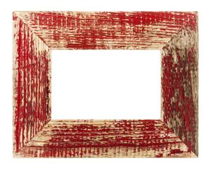 Bilderrahmen rot isoliert auf weiß