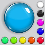 Fototapety Multicolored glass buttons