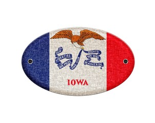 Wooden sign of Iowa.