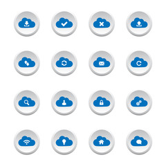 Cloud computing buttons