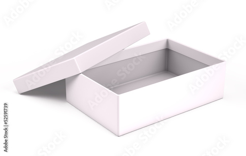Open white box