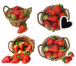 strawberries in a basket - collection