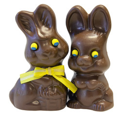Chocolate Easter Bunny Pair