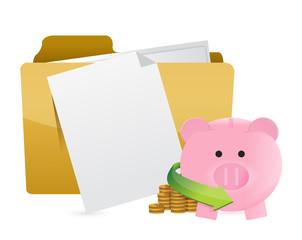 monetary documents concept