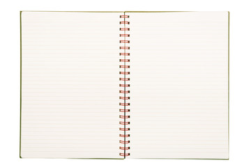 Lined Paper Notebook Isolated