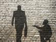 Zdjęcia na płótnie, fototapety, obrazy : ombres de mendiant et businessman