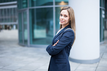 Outdoor business woman portrait