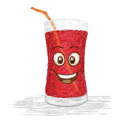 happy strawberry juice