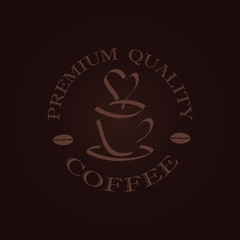 minimal coffee label