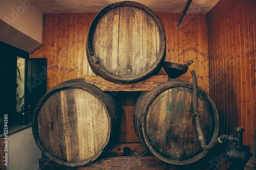 Vintage Wooden Wine barrels © EPSTOCK