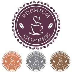 premium coffee label