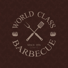 world class barbecue label