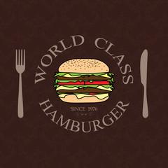 world class burger label