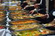Leinwandbild Motiv buffet food