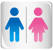 Cute toilet sign Vector