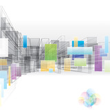 Fototapety Abstract 3D background for architecture and designing.