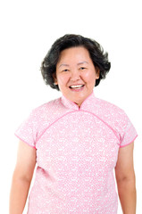 Portrait of cheerful asian senior woman