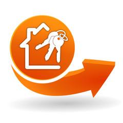 maison à vendre sur bouton web orange
