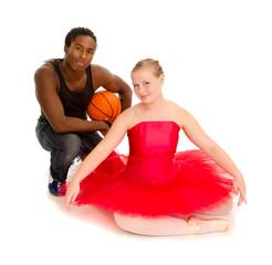 Teenage Ballerina and Basketball Player Boyfriend