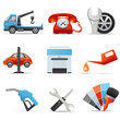 Car service and repair icons