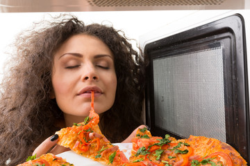 Cooking pizza in the microwave