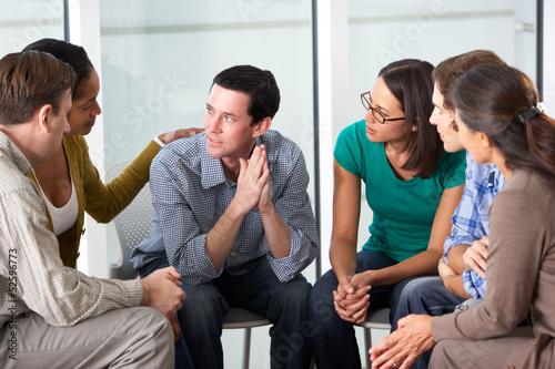 Leinwanddruck Bild Meeting Of Support Group