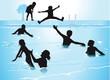 Baden im Schwimmbad