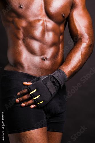 Fototapeten,bodybuilder,bodybuilding,afrikanisch,rundgang