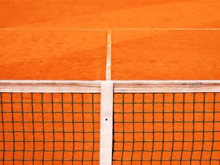 Tennisplatz mit Linie und Netz 119