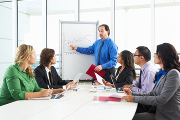 Businessman Conducting Meeting In Boardroom