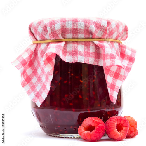 Raspberry Jam Isolated