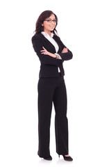 business woman with arms folded