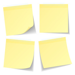 4 Yellow Stick Notes Tape
