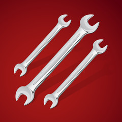 Vector hand wrench tools or spanners