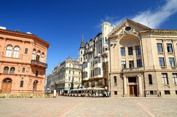 sqare in olda part of Riga, Latvia